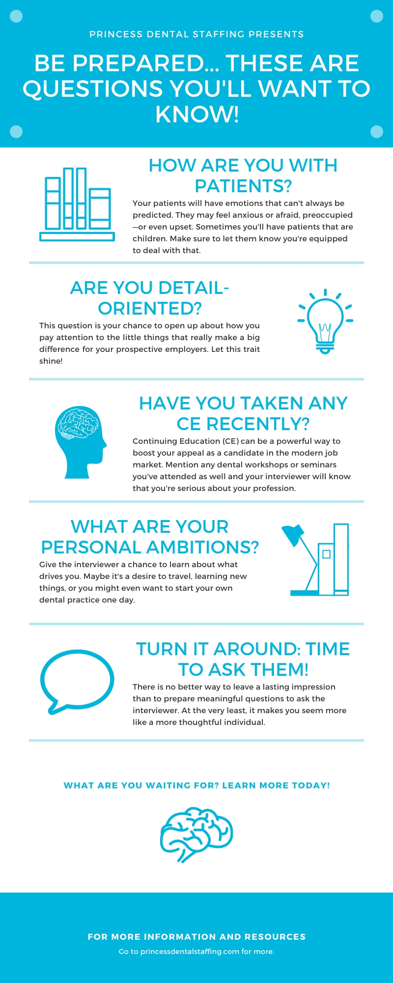 Infographic on questions employers will ask you during a hiring interview
