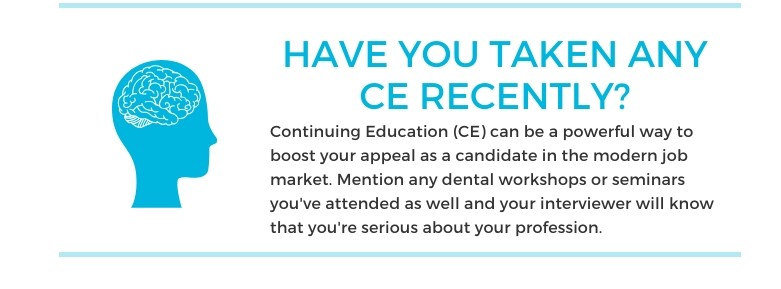 Interview question 3: Have you taken CEs?