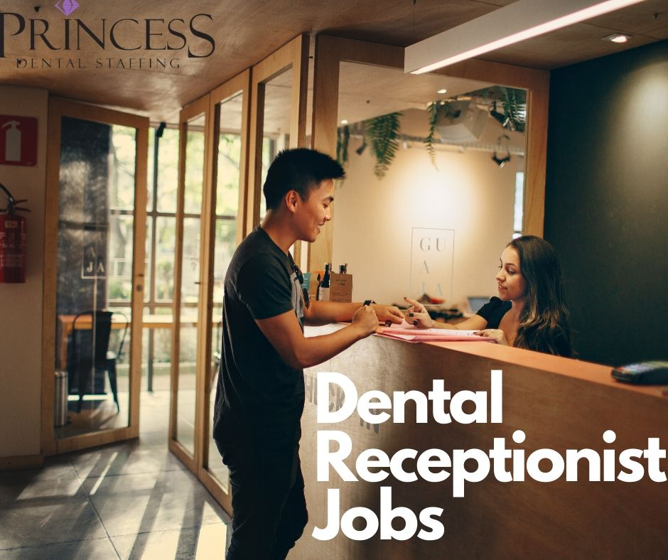 Dental Receptionist doing their job