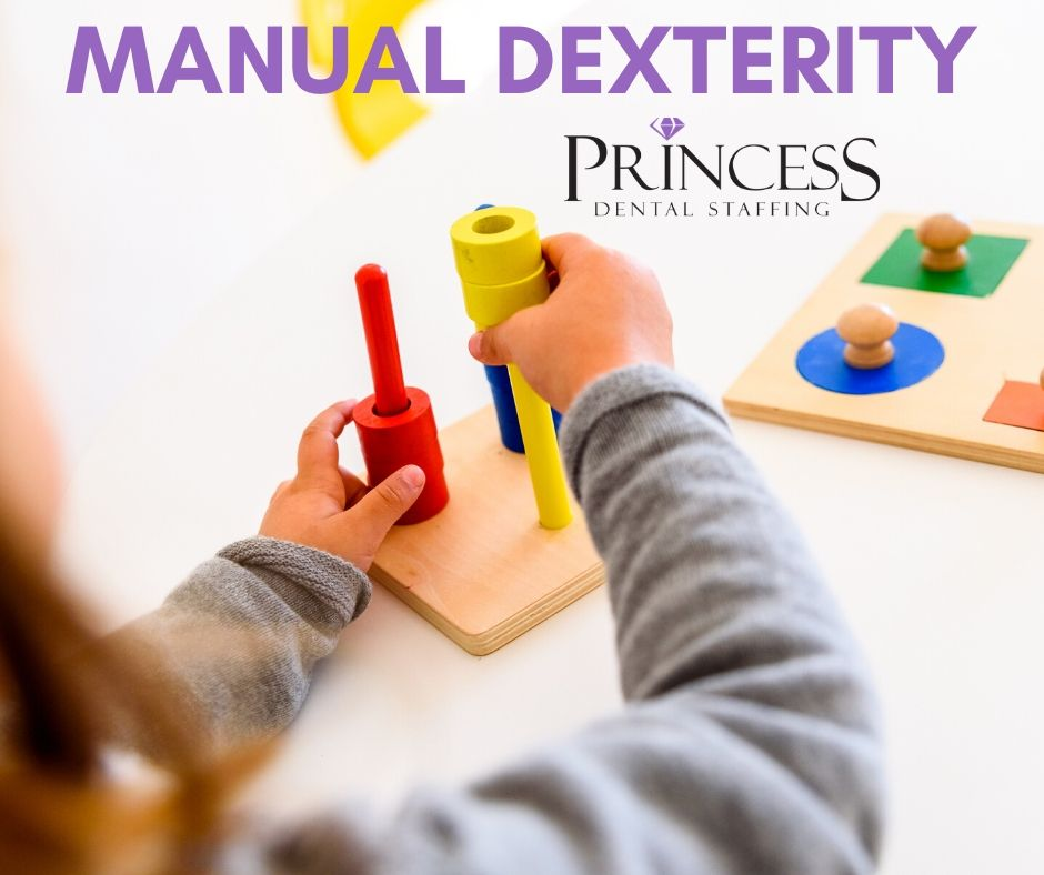 A person using their manual dexterity