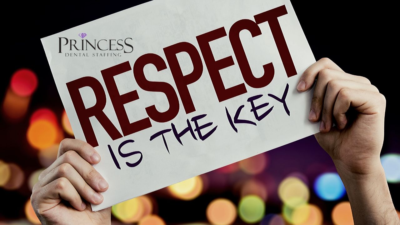 Sign that says respect is the key