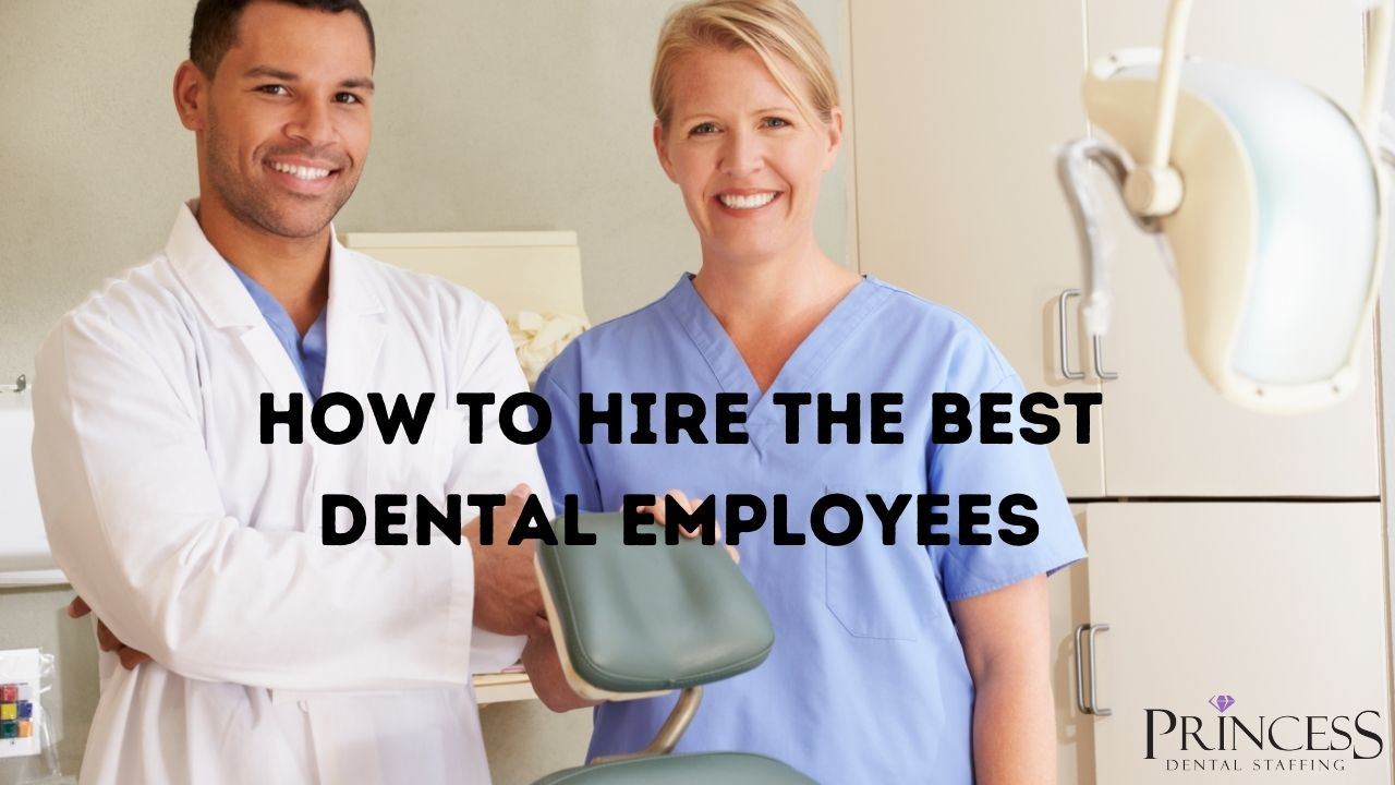 The best dental employees smiling at the camera.