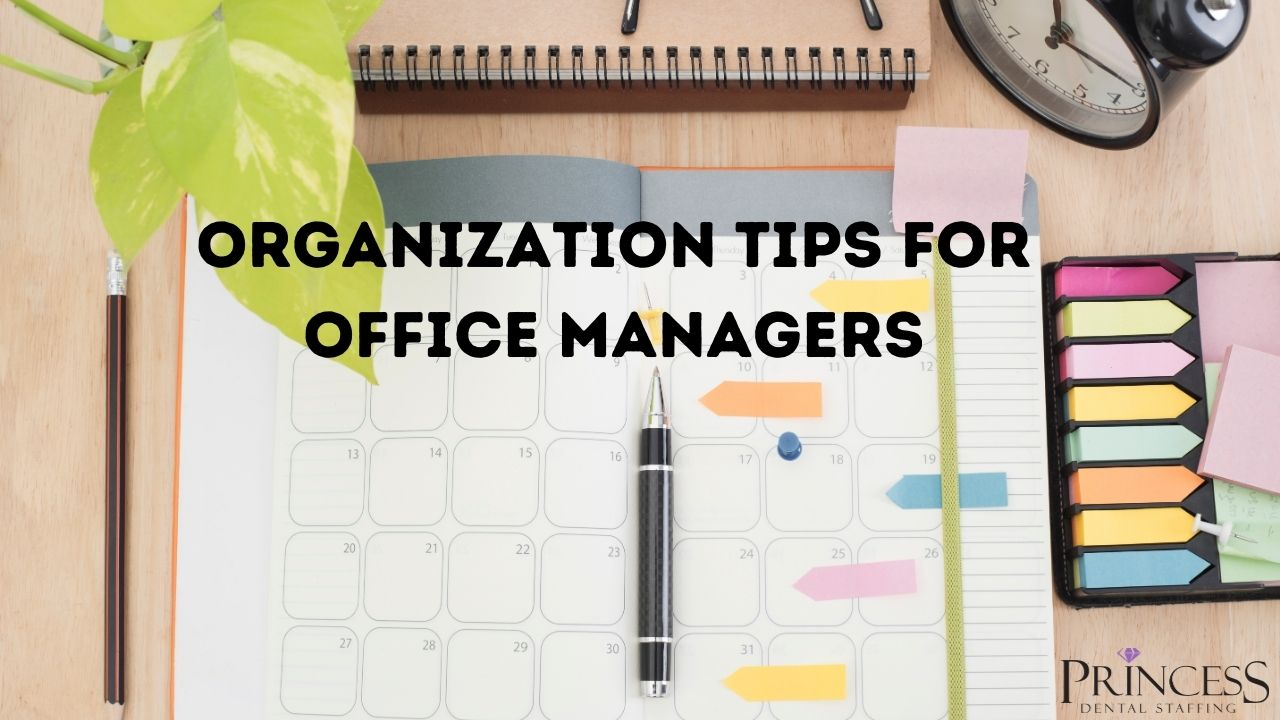 Office materials used to help with organization for office managers.