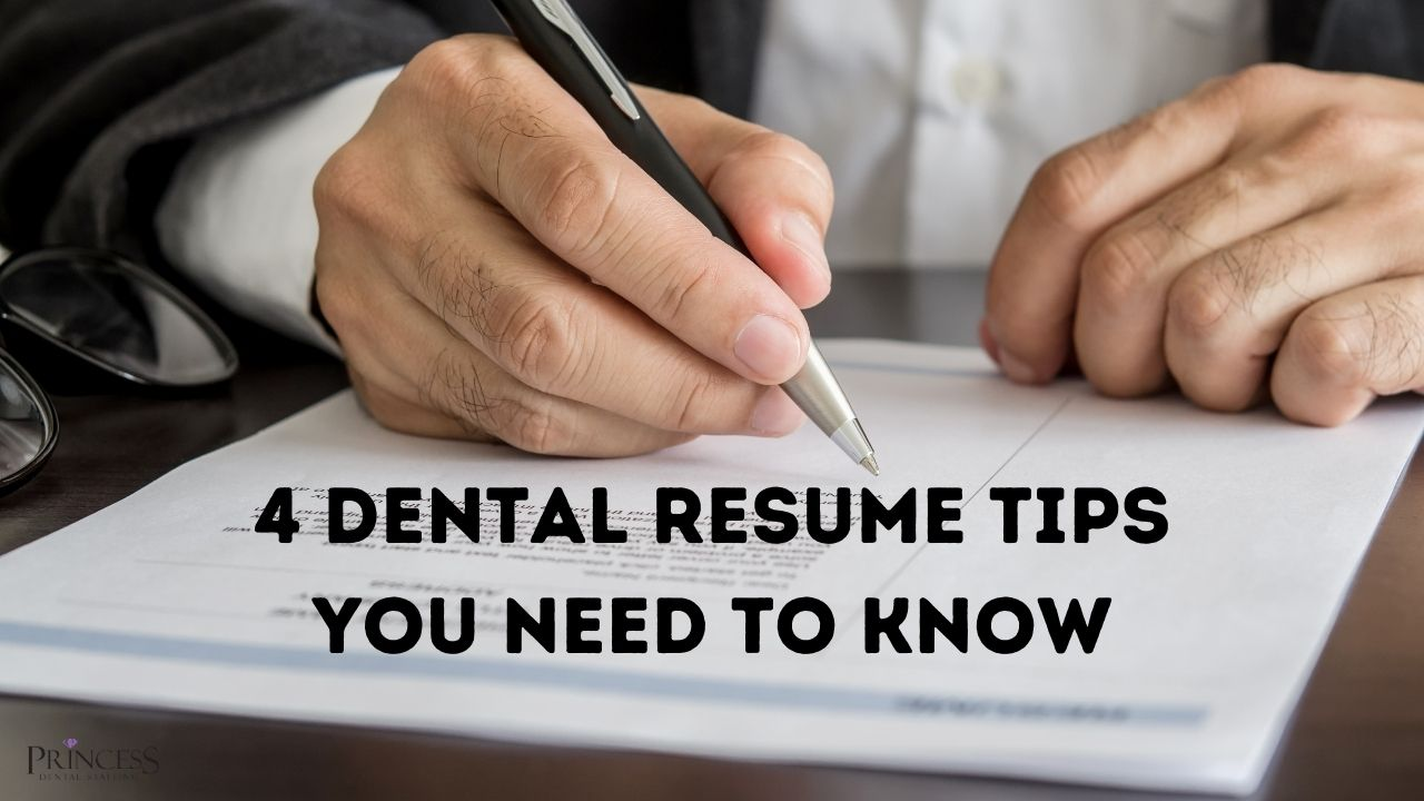 Person using dental resume tips to write resume.